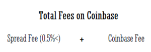 Total fees on Coinbase